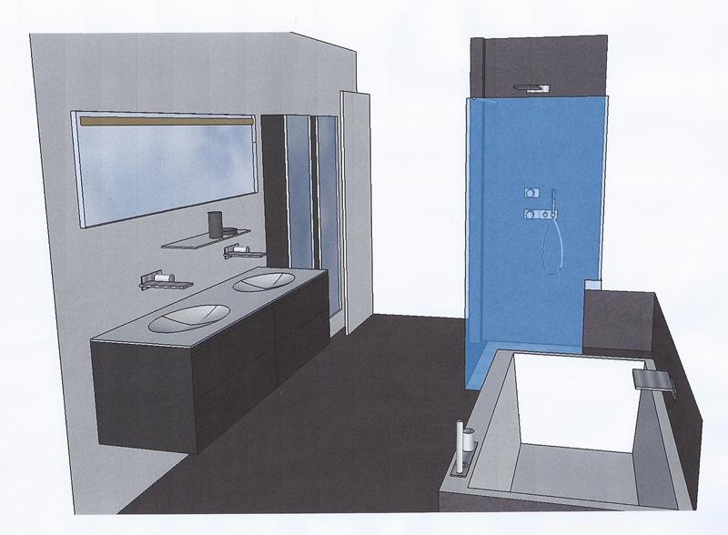 Implantation salle de bain maison design for Implanter une salle de bain