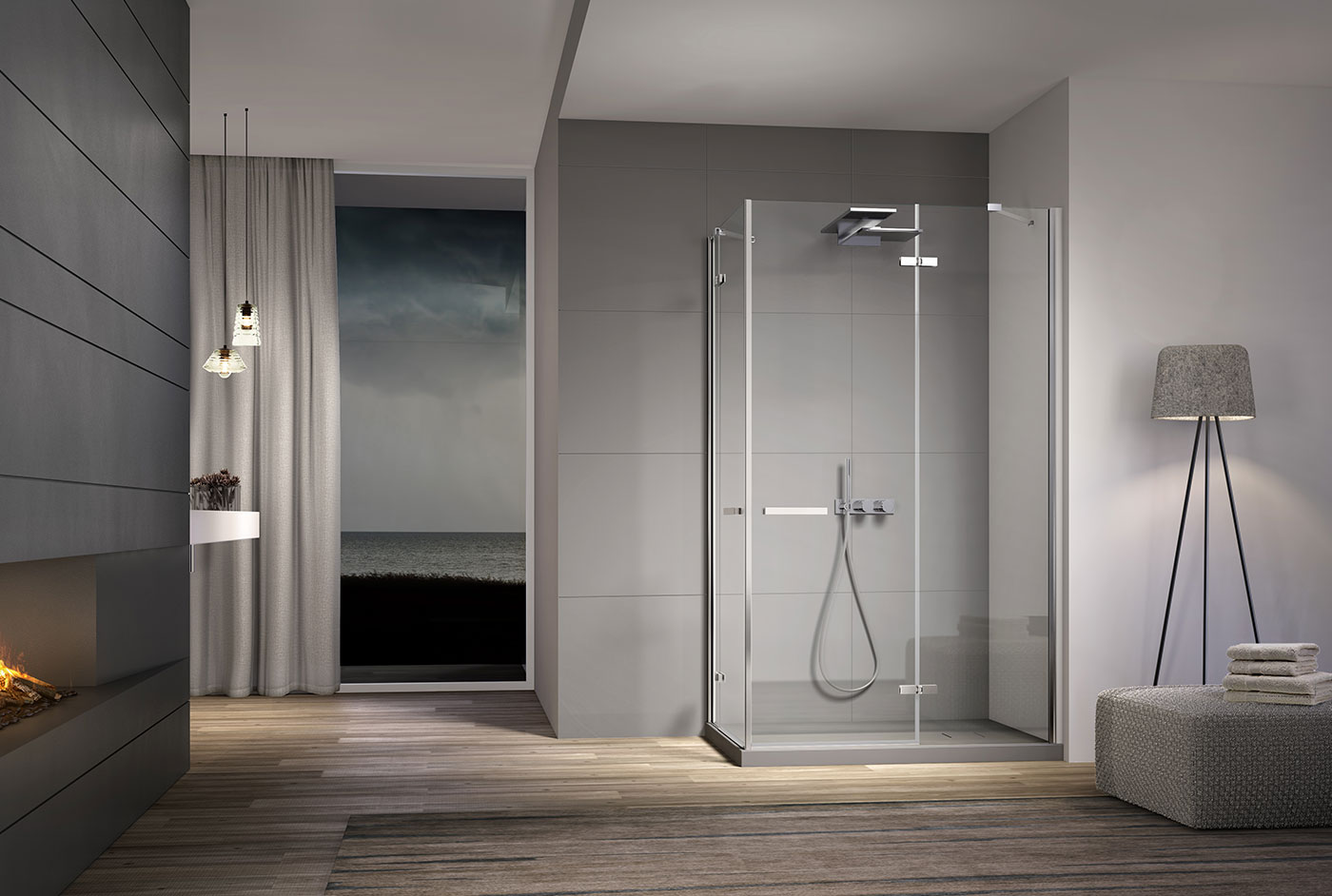 douche italienne de salle de bain bath room. Black Bedroom Furniture Sets. Home Design Ideas