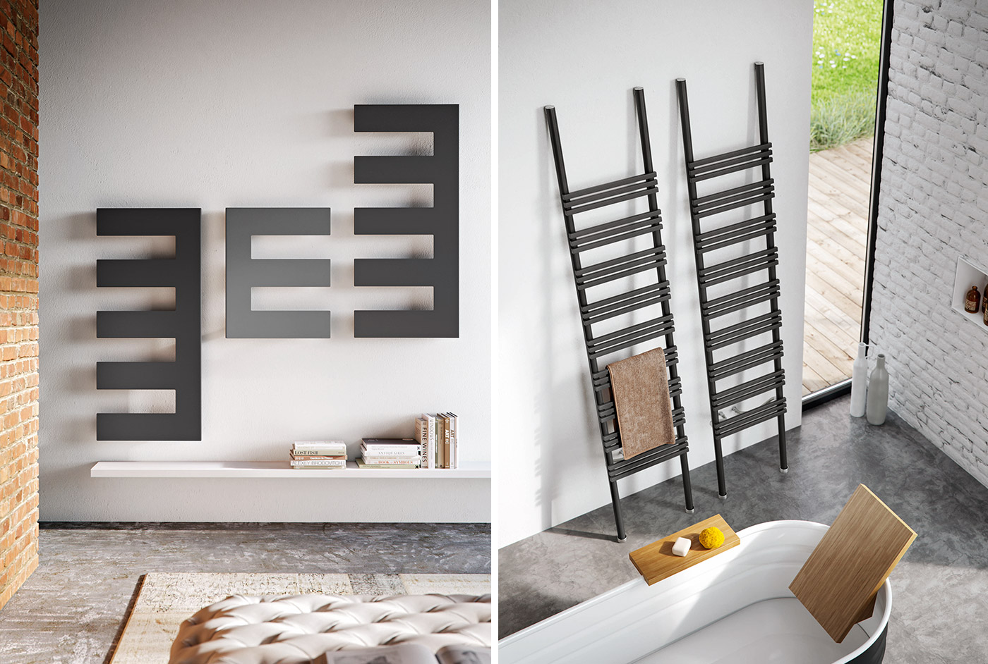 radiateur salle de bain mixte maison design. Black Bedroom Furniture Sets. Home Design Ideas