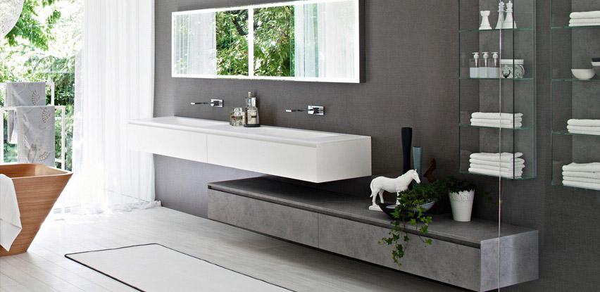 Meuble suspendu double vasque salle bain
