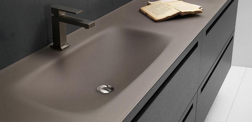Mobiliers de salle de bain bath room for Meuble salle de bain avec vasque en verre